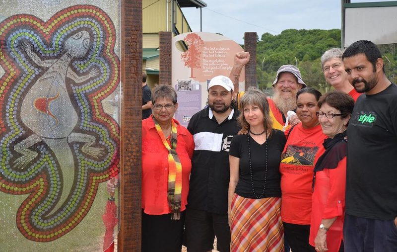 Lismore Showground Aboriginal Heritage Signage Committe at the opening of the signs
