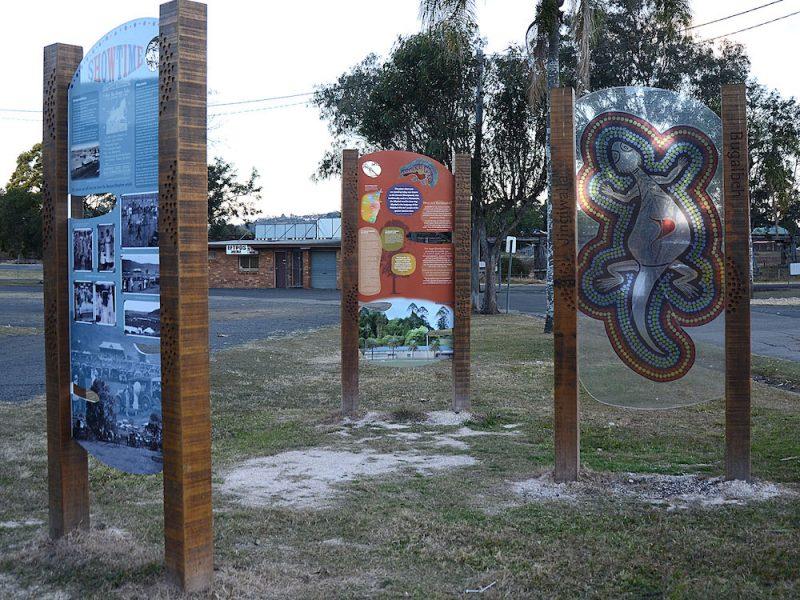 Lismore Showground Aboriginal Heritage Signs
